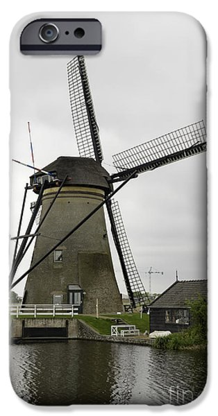 Shed iPhone Cases - Kinderdijk Windmill and Barn iPhone Case by Teresa Mucha