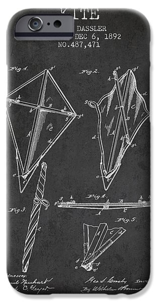 Kite Patent from 1892 iPhone Case by Aged Pixel