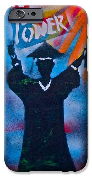 Tea Party iPhone Cases - Knowledge is Power 7 iPhone Case by Tony B Conscious