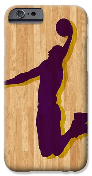 Bryant Photographs iPhone Cases - Kobe Bryant Los Angeles Lakers iPhone Case by Joe Hamilton