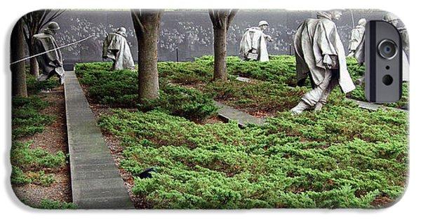 Cora Wandel iPhone Cases - Korean War Veterans Memorial -- 1 iPhone Case by Cora Wandel
