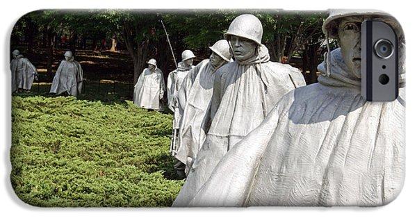 Cora Wandel iPhone Cases - Korean War Veterans Memorial -- 2 iPhone Case by Cora Wandel