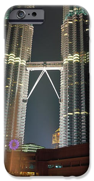 Twin Towers iPhone Cases - Kuala Lumpur Malaysia iPhone Case by Panoramic Images