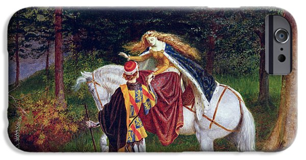 The Horse iPhone Cases - La Belle Dame Sans Merci iPhone Case by Walter Crane