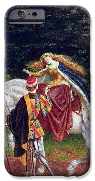 La Belle Dame Sans Merci iPhone Case by Walter Crane