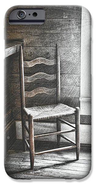 Ladderback Chair iPhone Cases - Ladderback iPhone Case by JAMART Photography
