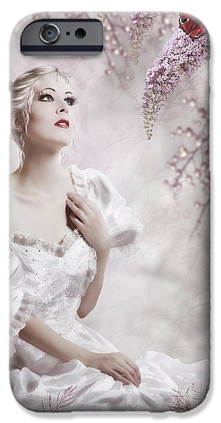 Innocence Mixed Media iPhone Cases - Lady iPhone Case by Svetlana Sewell