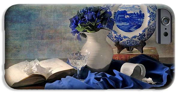 Still Life With Pitcher iPhone Cases - Ladys Got the Blues iPhone Case by Diana Angstadt