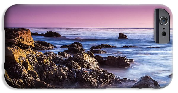Heisler Park iPhone Cases - Laguna Beach Sunset iPhone Case by David Daniel Adventures