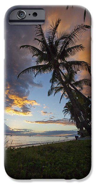 lahaina sunset iPhone Case by James Roemmling