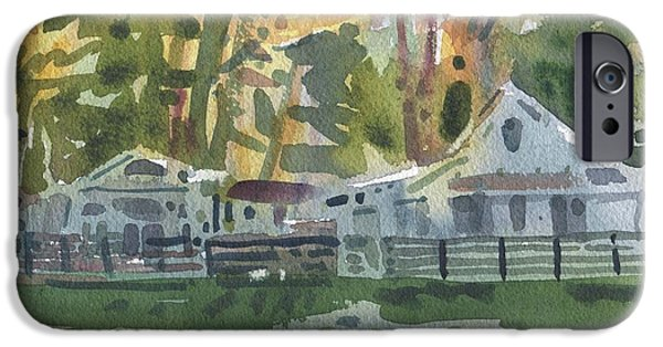 Cabin iPhone Cases - Lake Cabins iPhone Case by Donald Maier