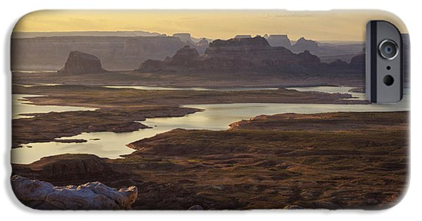 Glen Canyon iPhone Cases - Early Morning at Lake Powell   iPhone Case by Saija  Lehtonen