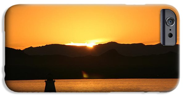David iPhone Cases - Lake sunset iPhone Case by David S Reynolds