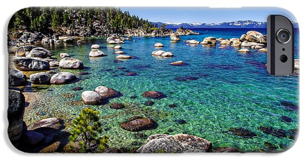 Spring Scenery iPhone Cases - Lake Tahoe Waterscape iPhone Case by Scott McGuire