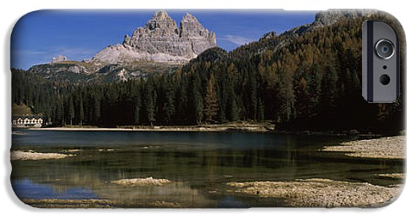 Reflections Of Sky In Water iPhone Cases - Lake With A Mountain Range iPhone Case by Panoramic Images