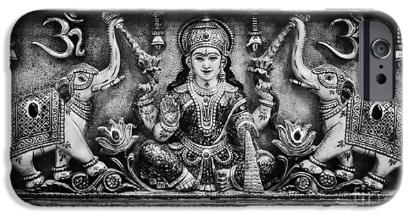 Hindu Goddess iPhone Cases - Lakshmi  iPhone Case by Tim Gainey