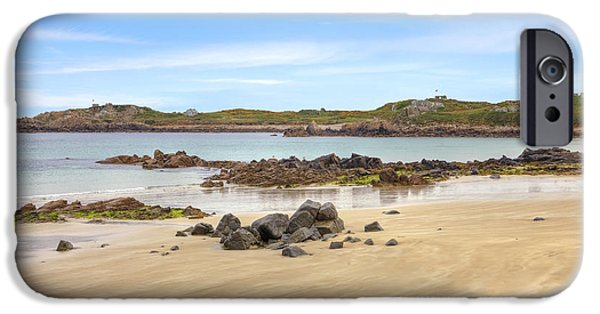 Vale iPhone Cases - LAncresse Bay - Guernsey iPhone Case by Joana Kruse