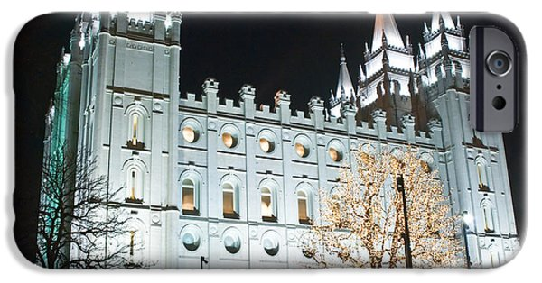 Built Structure iPhone Cases - LDS Temple iPhone Case by Mesha Zelkovich