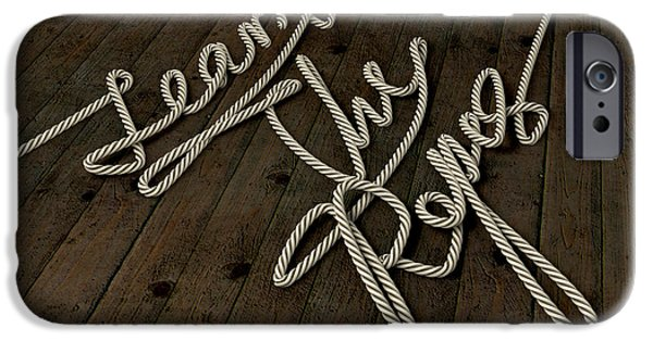 Guides iPhone Cases - Learn The Ropes Rope iPhone Case by Allan Swart