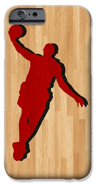 Lebron iPhone Cases - Lebron James Miami Heat iPhone Case by Joe Hamilton