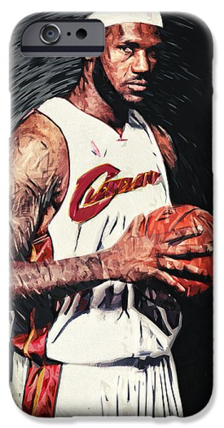 All Star iPhone Cases - LeBron james iPhone Case by Taylan Soyturk