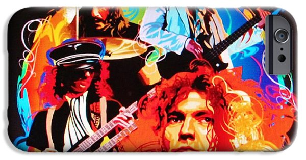 Robert Plant Print iPhone Cases - Led Zeppelin Art iPhone Case by Donna Wilson