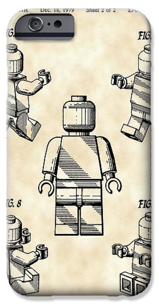 Interlocking iPhone Cases - Lego Figure Patent 1979 - Vintage iPhone Case by Stephen Younts