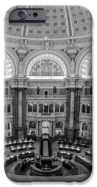 Library Of Congress Main Reading Room iPhone Case by Susan Candelario