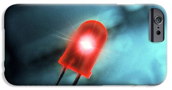 Electrical Component iPhone Cases - Light-emitting Diode iPhone Case by Richard Kail