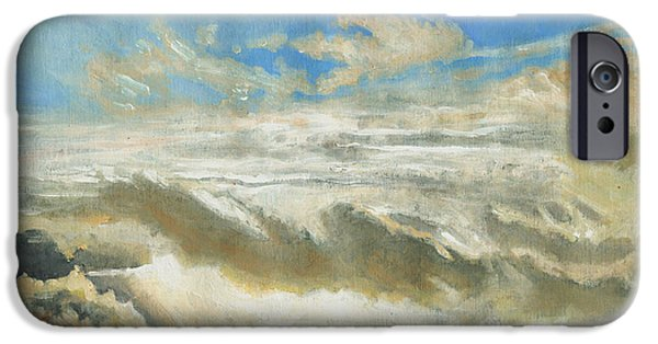Sun Breaking Through Clouds iPhone Cases - Light revealed iPhone Case by Helen White