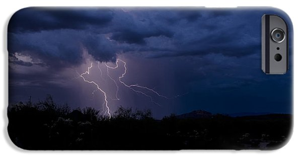 Natural Forces iPhone Cases - Light Up the Sky  iPhone Case by Saija  Lehtonen