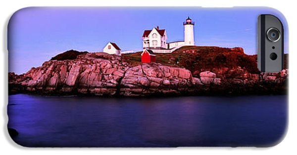 Cape Neddick Lighthouse Photographs iPhone Cases - Lighthouse At A Coast, Nubble iPhone Case by Panoramic Images