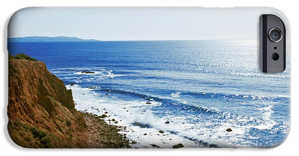 Lighthouse iPhone Cases - Lighthouse At A Coast, Point Vicente iPhone Case by Panoramic Images
