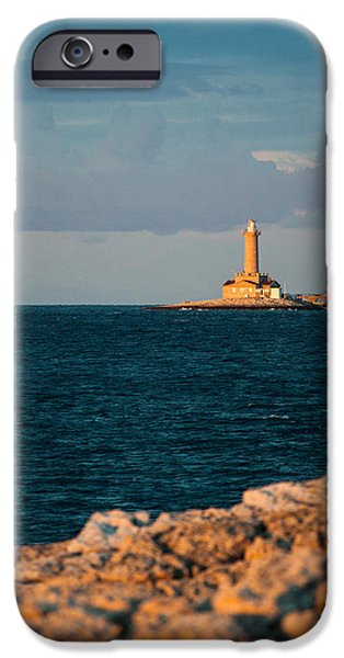 Lighthouse Sea iPhone Cases - Lighthouse iPhone Case by Davorin Mance