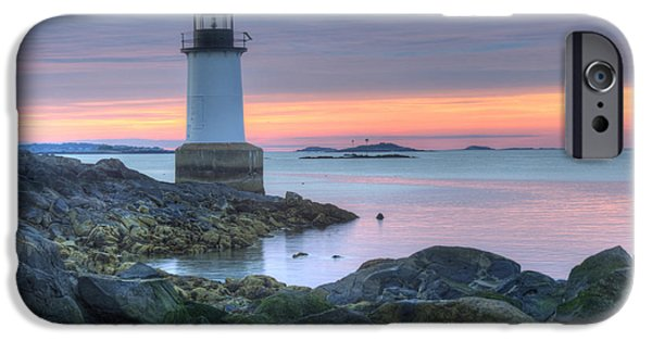New England Ocean iPhone Cases - Lighthouse iPhone Case by Juli Scalzi