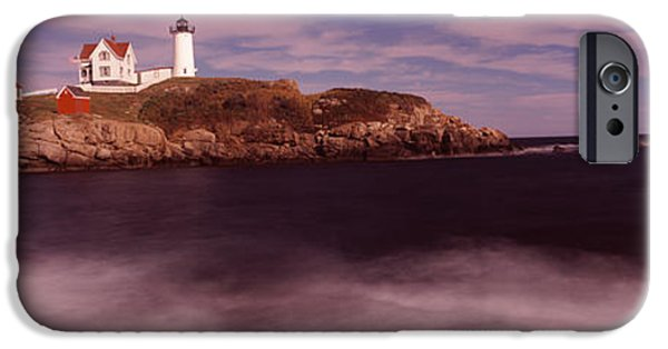 Cape Neddick Lighthouse Photographs iPhone Cases - Lighthouse On The Coast, Nubble iPhone Case by Panoramic Images