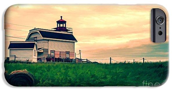 Lighthouse iPhone Cases - Lighthouse Prince Edward Island iPhone Case by Edward Fielding