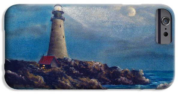 Lighthouse Pastels iPhone Cases - Lighthouse iPhone Case by Teresa Ascone