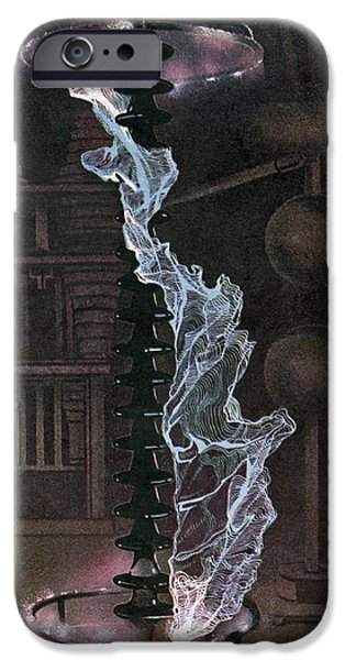 Electrical Equipment iPhone Cases - Lightning Arrester Test, 1940s Artwork iPhone Case by CCI Archives