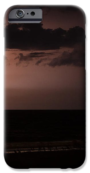 Lightning Over the Ocean iPhone Case by Dawna  Moore Photography