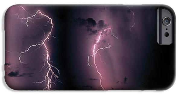 Electrical iPhone Cases - Lightning, Thunderstorm, Weather, Sky iPhone Case by Panoramic Images