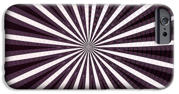 Abstract Digital Mixed Media iPhone Cases - Lights n Shades Purple n White Stripe Abstract art for Dark Rooms and Corridors also see Throw Pillo iPhone Case by Navin Joshi