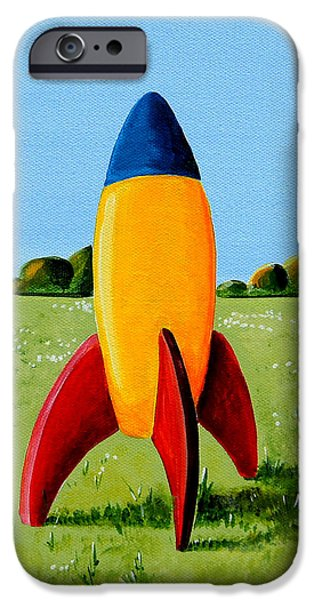 Rockets iPhone Cases - Lil Rocket iPhone Case by Cindy Thornton