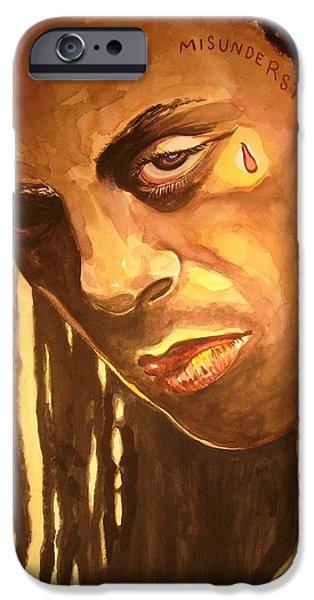 Lil Wayne Paintings iPhone Cases - Lil Wayne iPhone Case by Juliet McClain