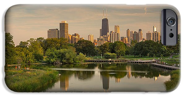 Lincoln iPhone Cases - Lincoln Park Lagoon Chicago iPhone Case by Steve Gadomski