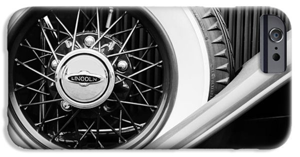 Lincoln Photographs iPhone Cases - Lincoln Spare Tire Emblem iPhone Case by Jill Reger