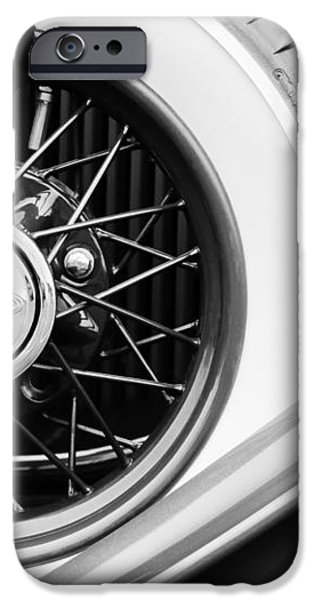 Lincoln Spare Tire Emblem iPhone Case by Jill Reger