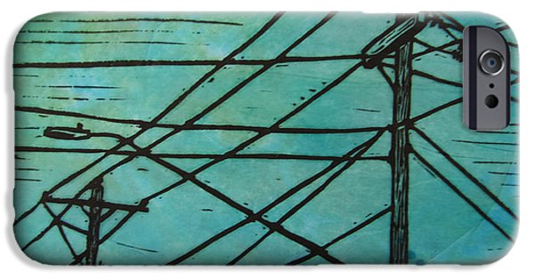 Lino Drawings iPhone Cases - Lines iPhone Case by William Cauthern