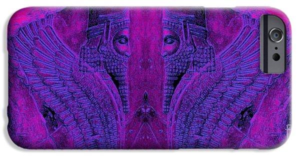 King Of The Persians iPhone Cases - Lion King-Dariush The Great iPhone Case by Dariush Alipanah- Jahroudi