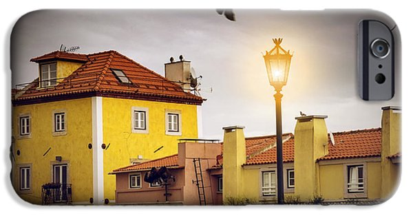 Balcony iPhone Cases - Lisbon Houses iPhone Case by Carlos Caetano